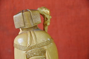 JAPANESE IVORY OKIMONO OF FUKUROKUJU
