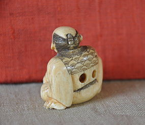 Japanese Ivory Netsuke of Gourd Seller