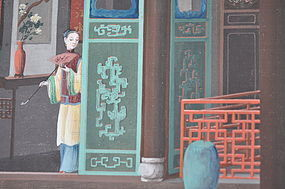 CHINA TRADE PAINTINGS OF EXTERIOR/INTERIOR SCENES