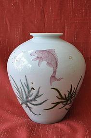 Japanese Porcelain Studio Vase