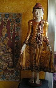 Burmese Mandalay Style Standing Buddha