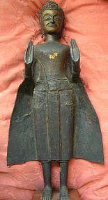 Thai Bronze Standing Buddha Statue, Ayudhya