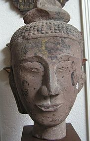 Sandstone Head of Buddha