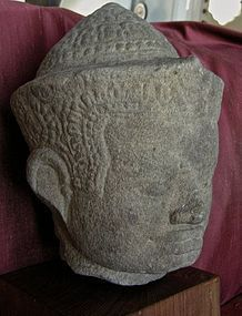 Thai  Sandstone Head of King