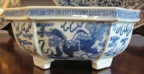 Chinese Blue White Porcelain Bulb Bowl