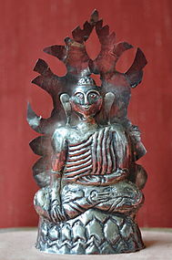 Thai Silver Figure of Buddha