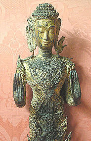 Thai Gilt Bronze Buddha