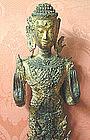 Thai Gilt Bronze Buddha