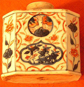 Chinese 18th century Imari Tea Caddy