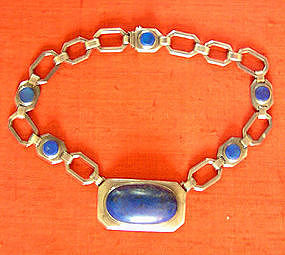 Lapis Lazuli and Silver Designer Necklace