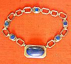 Lapis Lazuli and Silver Designer Necklace