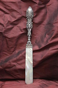 Sterling silver & Mother-of-pearl paper knife