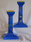 Pair of Shelley candlesticks pattern 8682