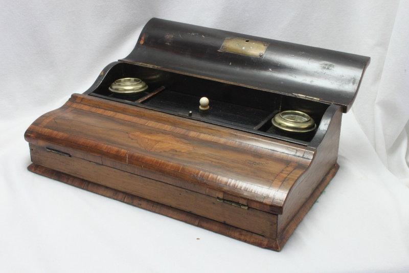 Inlaid rosewood veneer desk set