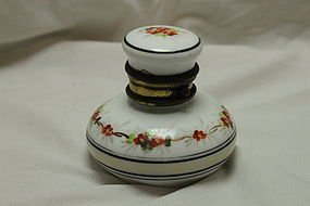 Porcelain travelling inkwell