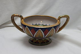 Two handled lustre bowl by Lorenzo Rubboli