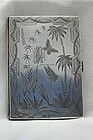 Sterling silver card case with diary and pencil