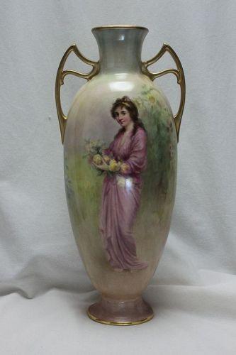 Doulton Burslem vase hand painted by Frederick Sutton