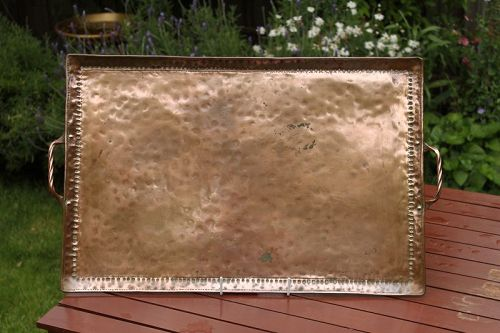 Large Arts & Crafts copper tray by John Pearson