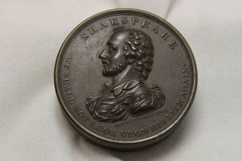 Box made from Shakespeare commemorative medal of 1816