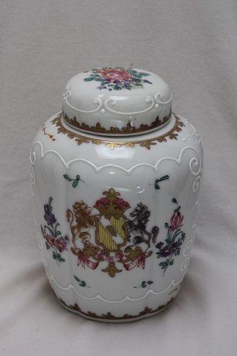 Samson of Paris armorial tea canister