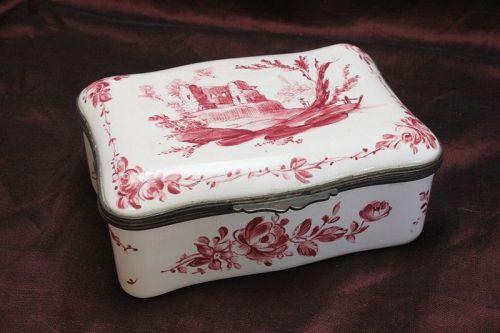 Enamel trinket box by Samson of Paris