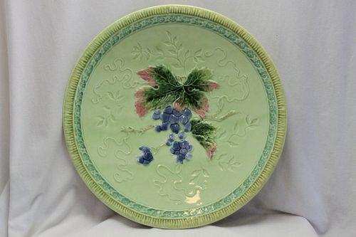 Porcelain majolica plate