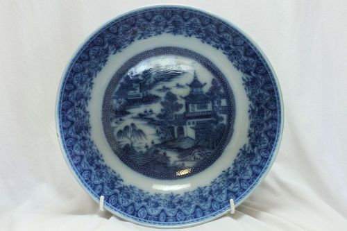 Blue and White punch bowl att. to Herculaneum of Liverpool