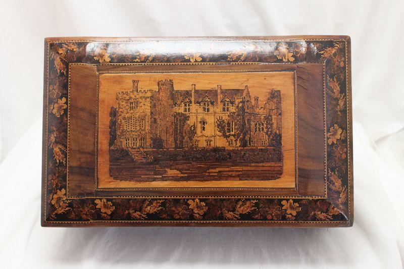 Tunbridge Ware jewelry box Penshurst Place