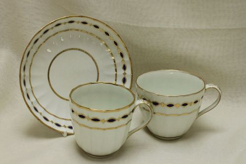 Derby hand painted and gilded trio pattern 126