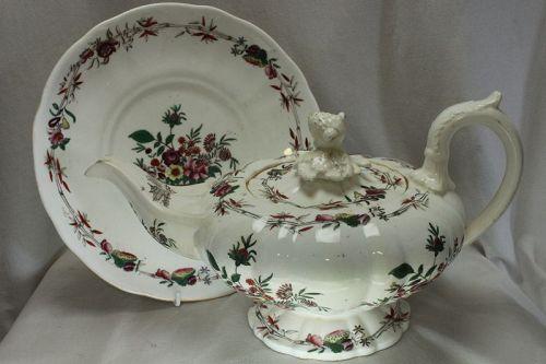 C J Mason porcelain teapot on stand