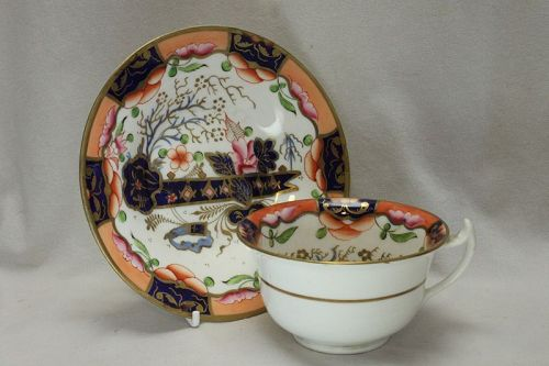 Samuel Alcock hand decorated cup and saucer