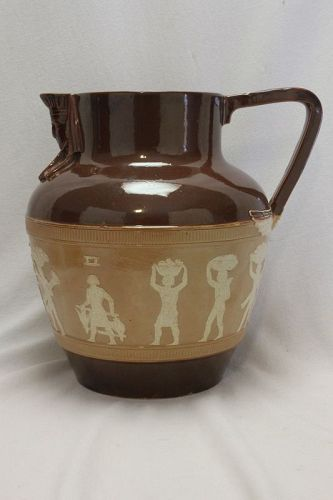 Doulton Lambeth Stoneware Egyptian jug