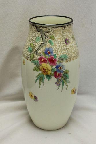 Royal Doulton hand coloured porcelain vase