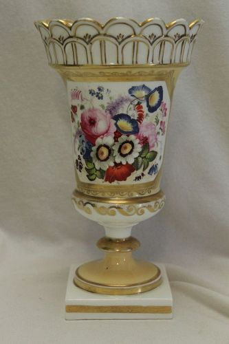 Hand painted and gilded vase att. to Minton