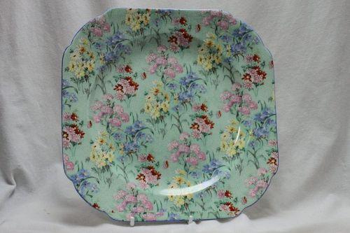 Shelley cake plate-Melody chintz pattern 8809