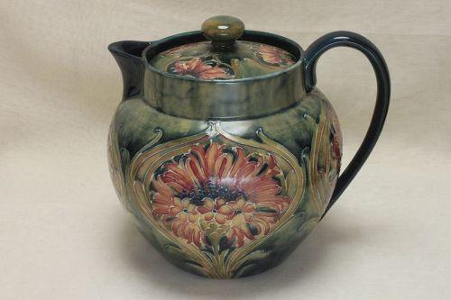 Moorcroft teapot Cornflower design