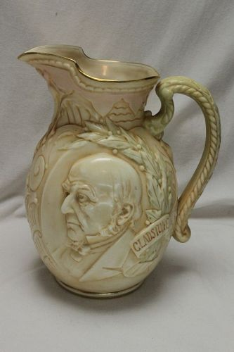 Doulton Burslem Gladstone commemorative jug
