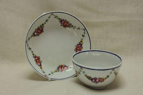 Hand painted tea bowl and saucer poss. Bristol