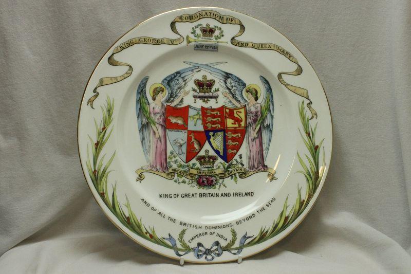 Shelley coronation plate 1911