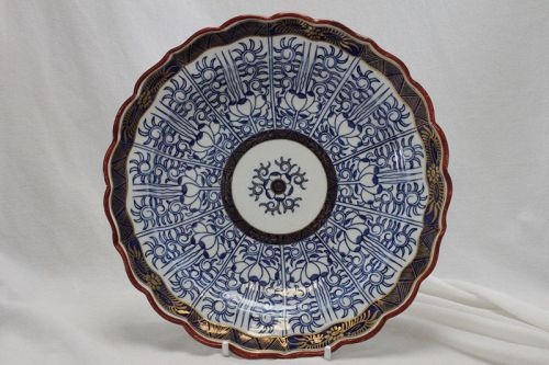 """First period Worcester plate """"Royal Lily"""""""