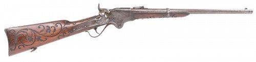 Spencer Carbine, Model 1860 Engaved Stock