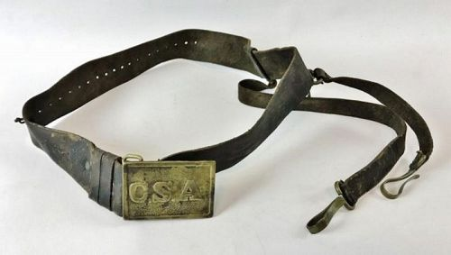 Civil War Sword Belt with Confederate C.S.A. Buckle