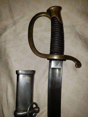 Civil War Ames Mfr M1860 Artillery Sword dated 1860, Fine Condition