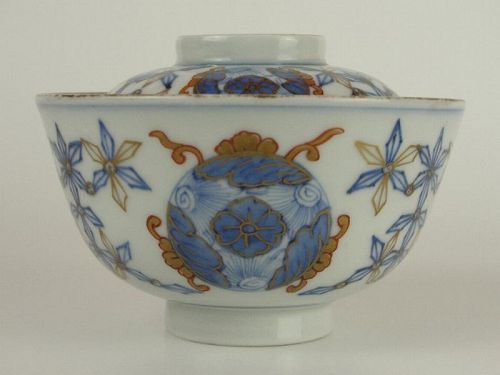 Fine and Unusual Early 19th Century Japanese Porcelain Covered Bowl