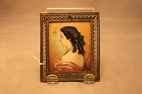 Antique Continental Miniature Painting,19th C