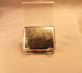 Antique British Sterling Silver Cigarette Case 1841