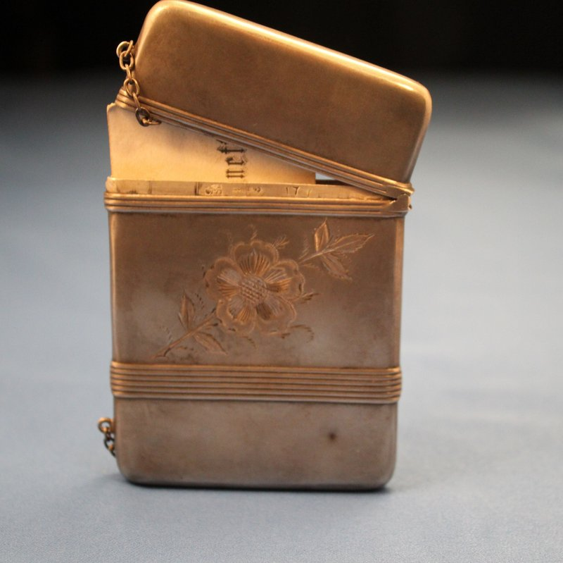 Antique Sterling Silver Card Case 19th C