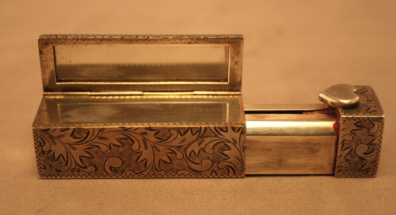 Wonderful Sterling Silver compact & Lipstick Case.