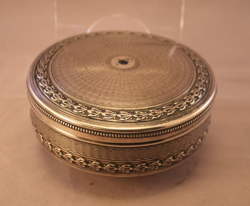 Antique French.950 Silver and Stone-mounted Dresser Box